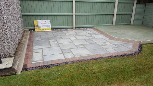 Garden patio that was laid by our team.