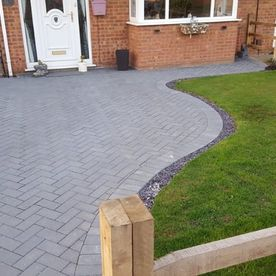 A customers driveway built by our team.