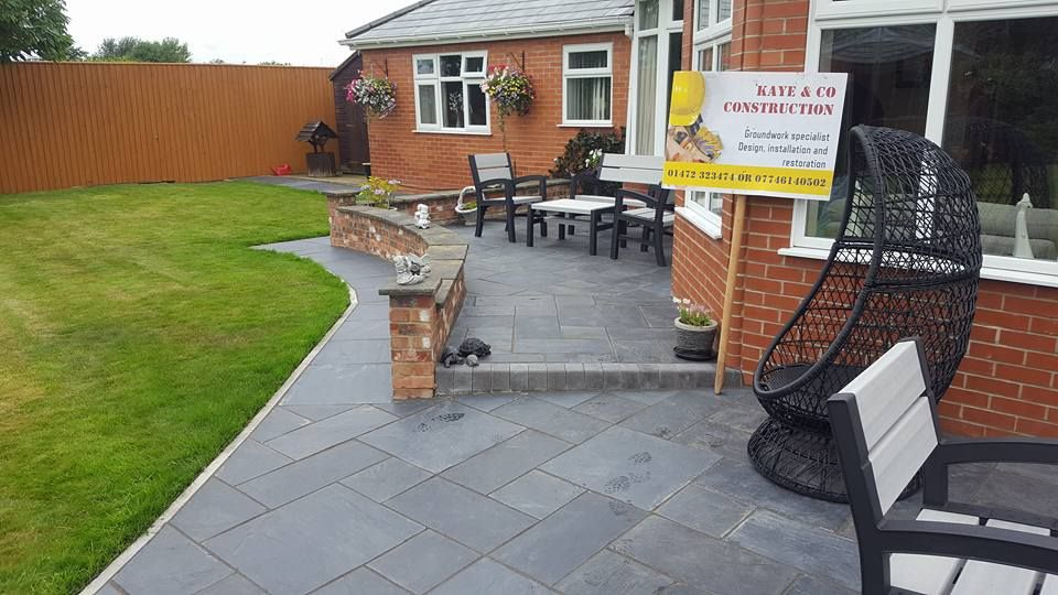 A customers domestic extension and patio built by our team.