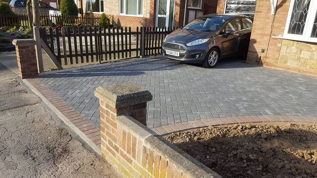Front of house drive way our team laid for one of our customers.